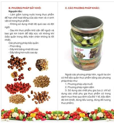 Cách bảo quản thực phẩm giúp duy trì hàm lượng dinh dưỡng