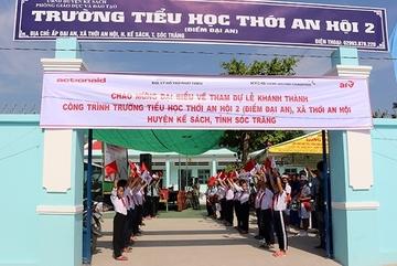 Sóc Trăng: Cải tạo trường tiểu học cho huyện nghèo