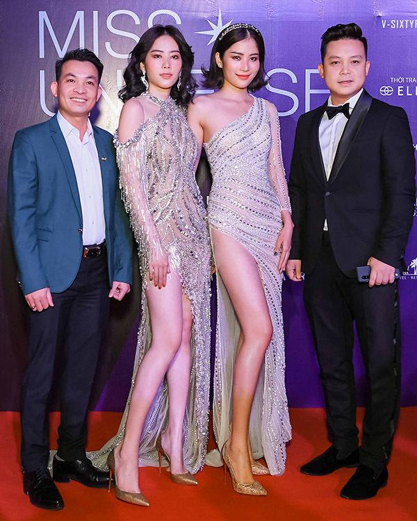 Mâu Thủy táo bạo khoe vòng 1 trên thảm đỏ Hoa hậu Hoàn vũ VN