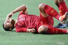 Hình ảnh rơi nước mắt về 2 đầu gối chảy máu của Trọng Hoàng