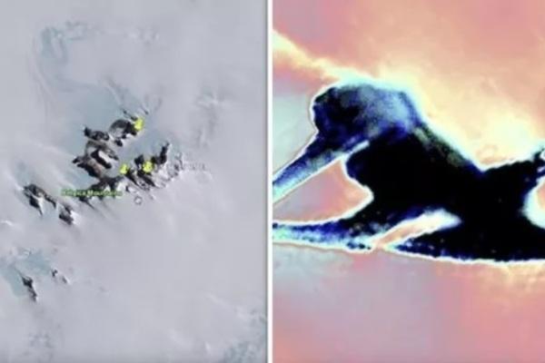 vật thể lạ,sông băng tan,băng tan,vật thể bí ẩn kỳ lạ