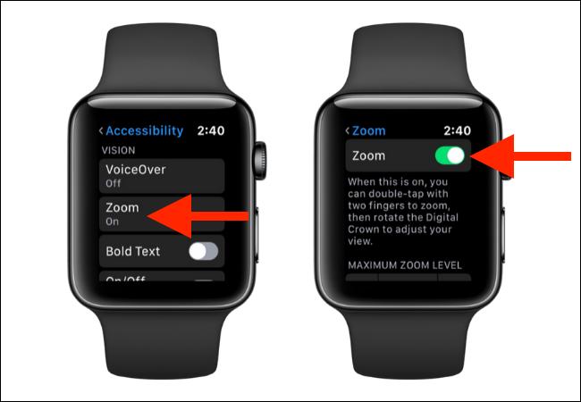 Cách sử dụng tính năng phóng to nội dung trên Apple Watch