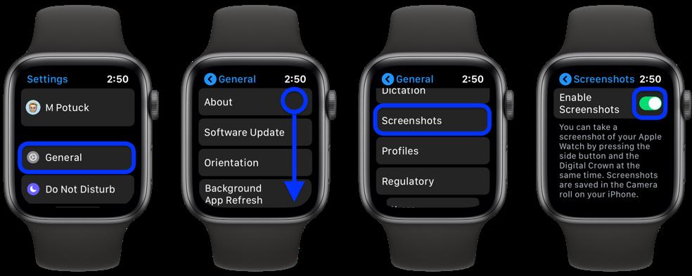 Cách vô hiệu tính năng chụp ảnh màn hình trên Apple Watch