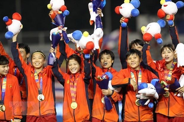 SEA Games 30: Vietnam's female football team wins gold medal
