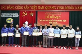 12 thí sinh đạt giải Nhất kỳ thi tay nghề tỉnh Thanh Hóa năm 2019