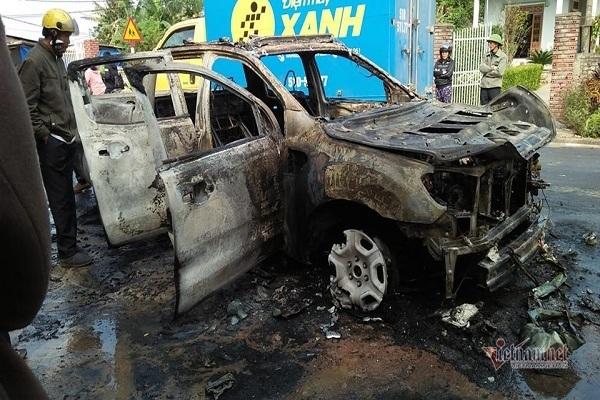 cháy ô tô,quảng bình