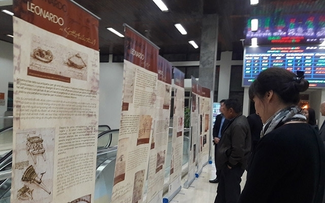 Exhibition on Leonardo da Vinci opens Hanoi Railway Station