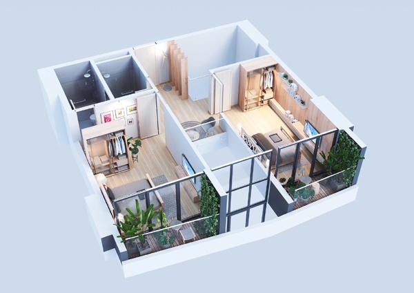 Không gian sống đẳng cấp trên tầng cao ở trung tâm Lào Cai