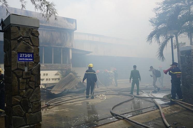 Cháy xưởng gỗ cạnh kho chứa gas tại Đà Nẵng