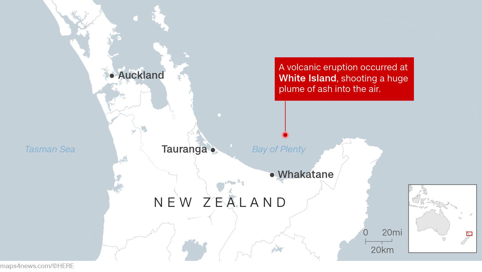 Vụ núi lửa phun bất ngờ, số người chết có khả năng còn tăng
