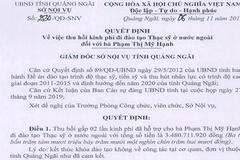 4 con quan chức ở Quảng Ngãi phải đền gấp 2 lần chi phí đào tạo du học