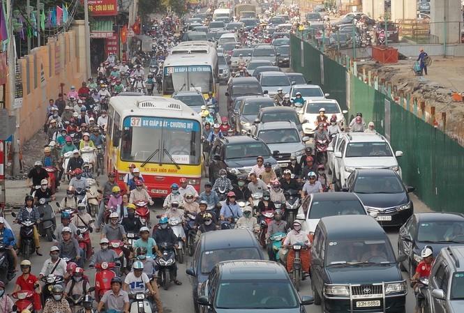 hanoi traffic,tet,traffic jam,social news