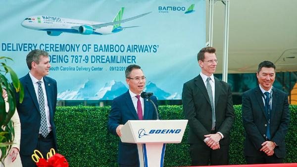 Máy bay Boeing 787-9 Dreamliner đầu tiên về với đội bay của Bamboo Airways