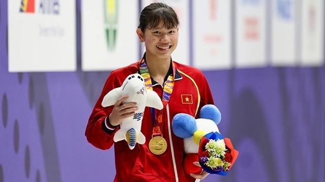 anh vien,sea games,swimming,medal