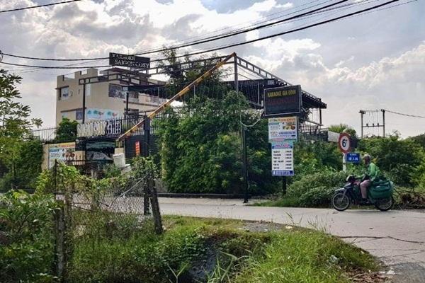 Phát hiện tổ hợp nhà hàng có 15 hạng mục xây lụi ở ngoại ô Sài Gòn