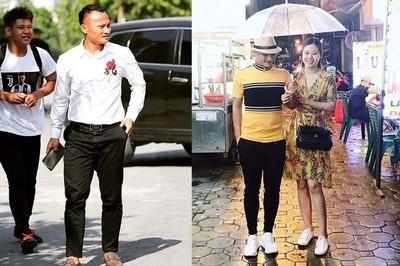Trọng Hoàng có phong cách gọn gàng, thích mặc đồng điệu với vợ