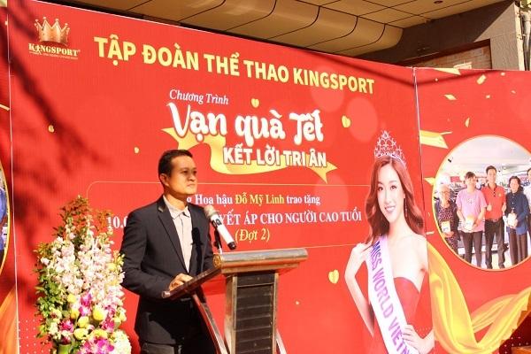 HH Đỗ Mỹ Linh trao 10.000 máy đo huyết áp KingSport cho người cao tuổi