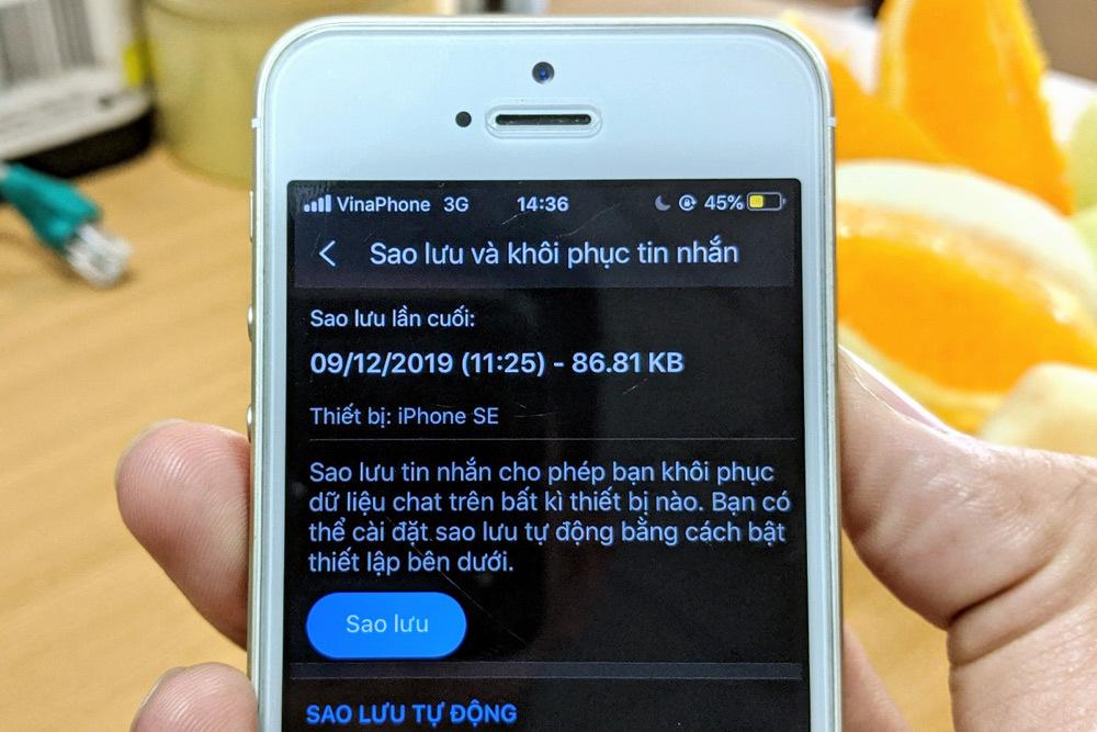 Cách sao lưu và khôi phục tin nhắn Zalo