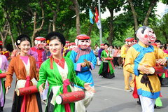 Folk festival in downtown Hanoi