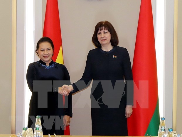 Vietnam-Belarus relations,National Assembly Chairwoman Nguyen Thi Kim Ngan,Chairwoman of the Council of the National Assembly,belarus,talks,Visit to Belarus,Vietnam,Vietnam News,Vietnamplus,Vietnam News Agency