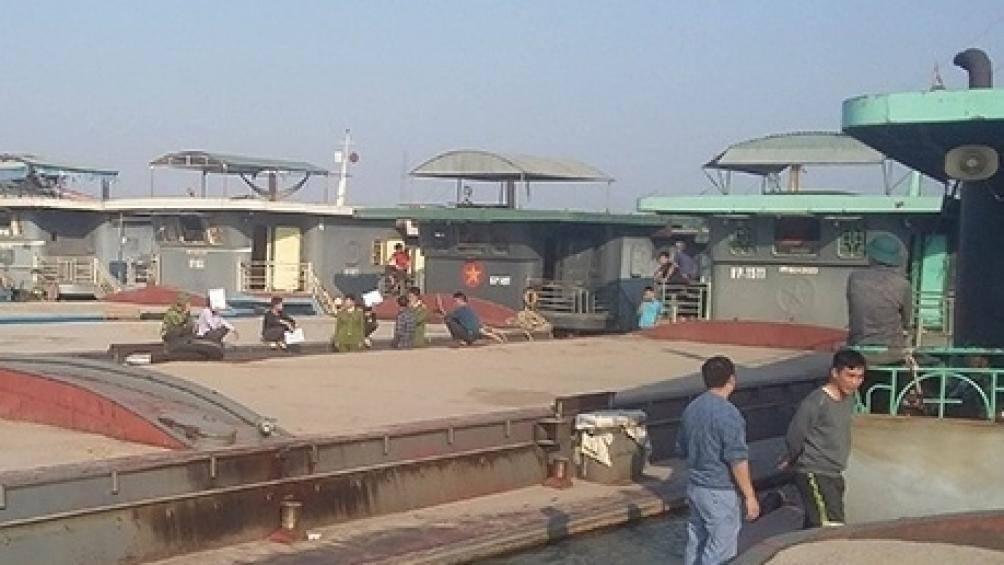 Hải Dương bắt đoàn tàu chở 3.500m3 cát đen không hóa đơn