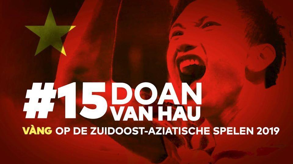 Đoàn Văn Hậu được Heerenveen vinh danh cùng chiến tích U22 Việt Nam