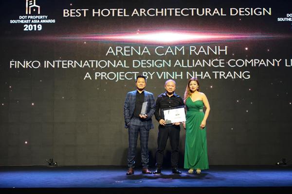 The Arena Cam Ranh nhận giải thiết kế kiến trúc khách sạn Dot Property Southeast Asia 2019