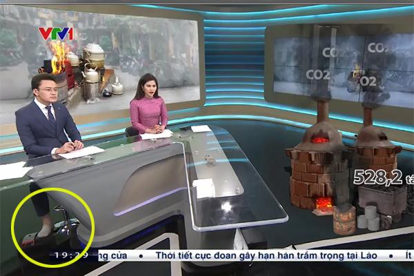 BTV Hữu Bằng để chân trần trên sóng Thời sự VTV 19h