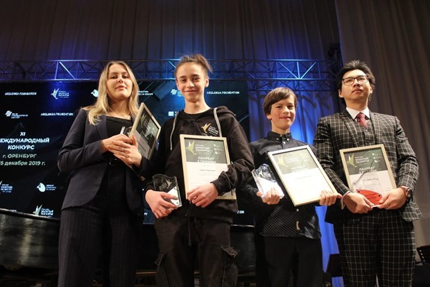 Vietnamese student wins third prize at int'l music contest in Russia