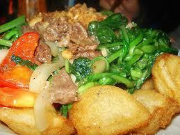 Vietnamese food: Deep fried pho