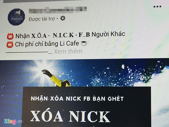 Service offering to erase Facebook accounts available in Vietnam