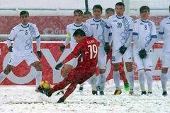 """""""Cầu vồng tuyết"""" của Quang Hải trở thành biểu tượng U23 châu Á"""