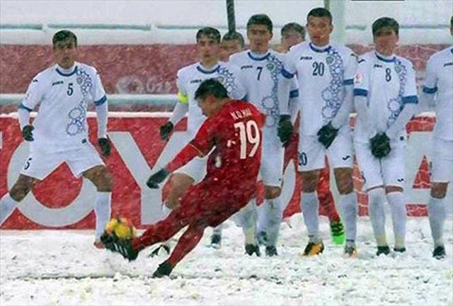 'Cầu vồng tuyết' của Quang Hải trở thành biểu tượng U23 châu Á