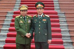 Lễ đón Thống tướng Myanmar thăm Việt Nam