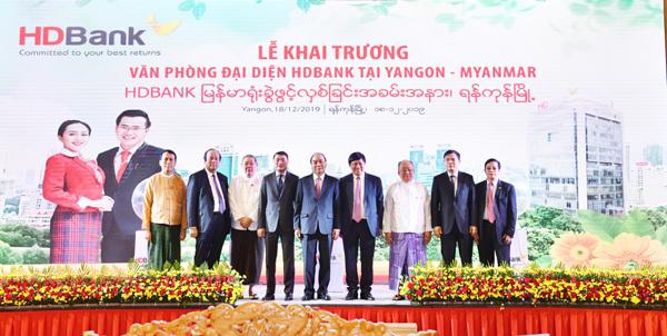 HDBank mở văn phòng giao dịch ở Myanmar