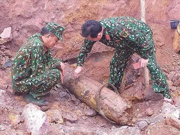 Wartime bomb safely disposed of in Quang Binh