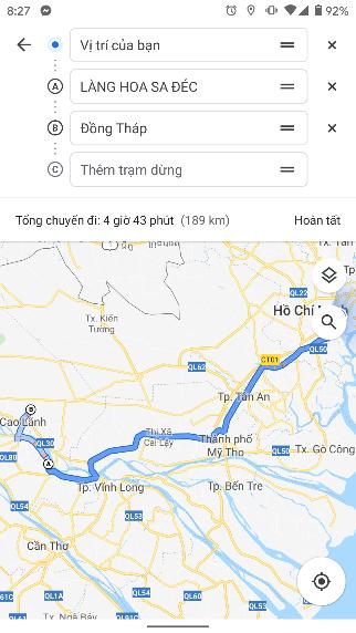 Cách thêm nhiều điểm dừng vào một chuyến đi trên Google Maps