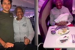 Trai đẹp nhường ghế máy bay hạng nhất cho cụ già