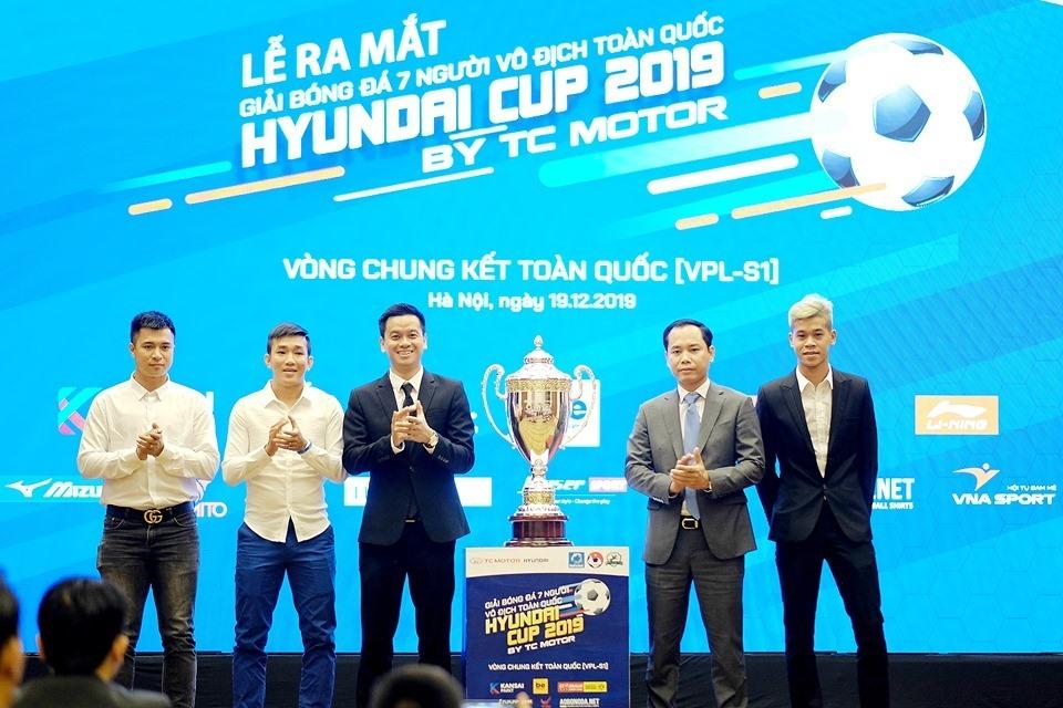 Quế Ngọc Hải tiếp lửa giải bóng đá 7 người vô địch toàn quốc