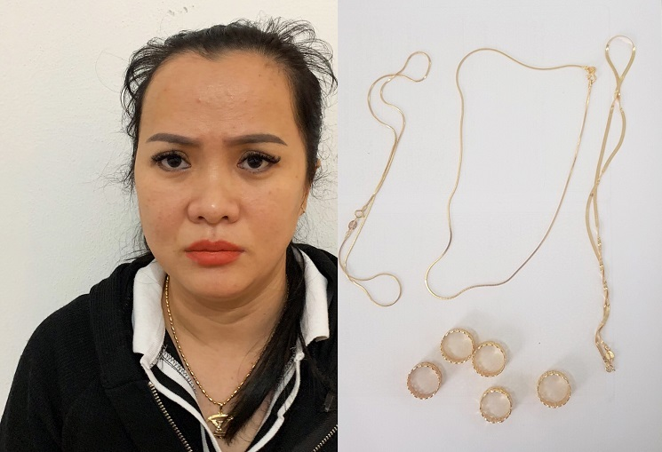 Chiêu trộm dây chuyền vàng chớp nhoáng của 'nữ quái' ở Đà Nẵng