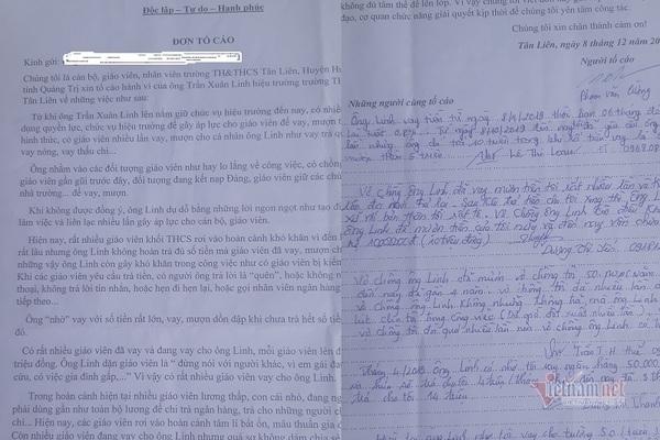 Hiệu trưởng ở Quảng Trị bị tố gây áp lực mượn tiền giáo viên rồi không trả