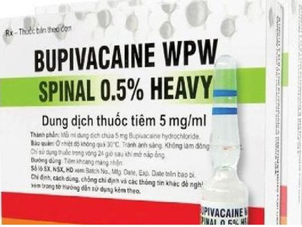 Tạm ngừng cung cấp thuốc gây tê Bupivacaine