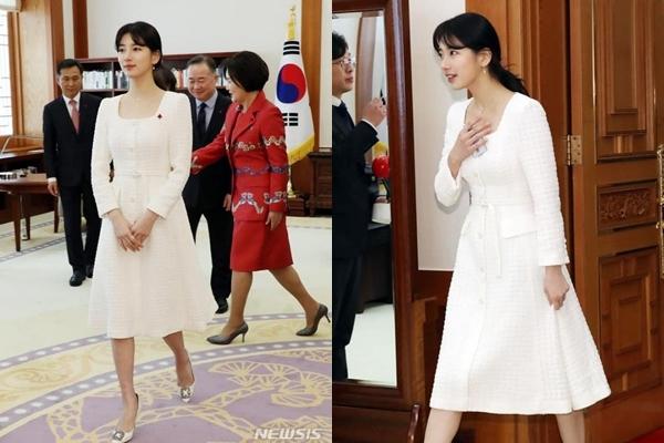 Suzy xinh đẹp bên vợ chồng Tổng thống Hàn Quốc
