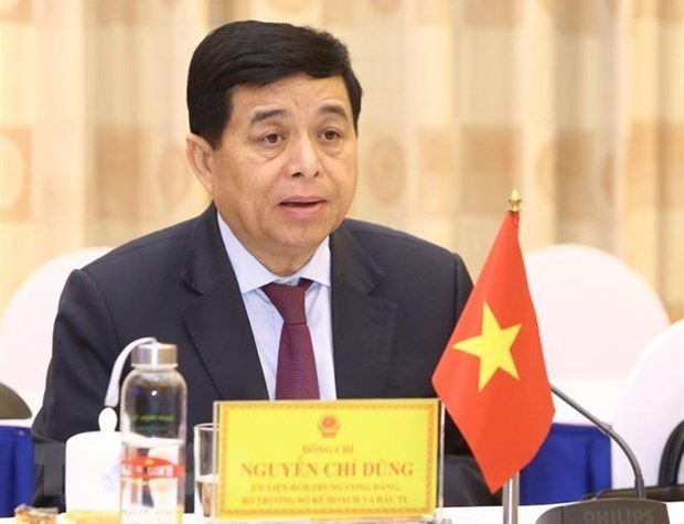 Minister of Planning and Investment Nguyen Chi Dun,Minister of Planning and Investment of Laos Sonsay,talks