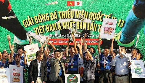 Becamex Binh Duong FC secure win in Vietnam-Japan U13 football tournament