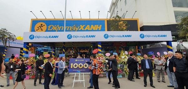 Siêu thị Điện máy Xanh thứ 1000: Đạt 3,8 tỷ doanh thu ngày khai trương