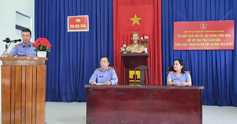 Viện Kiểm sát TP Nha Trang xin lỗi người bị oan 18 năm