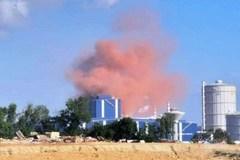 Cột khói màu hồng bất thường bay ra từ nhà máy Thép Hòa Phát Dung Quất