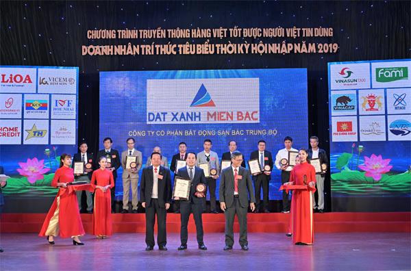 BĐS Bắc Trung Bộ nhận giải Top 50 Thương hiệu nổi tiếng Đất Việt 2019