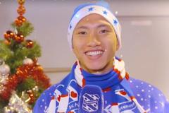 Văn Hậu gửi lời chúc Giáng sinh ngọt ngào đến CĐV Việt Nam
